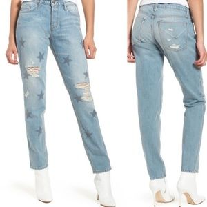 Hudson Riley Relaxed Straight Star Studded Jeans